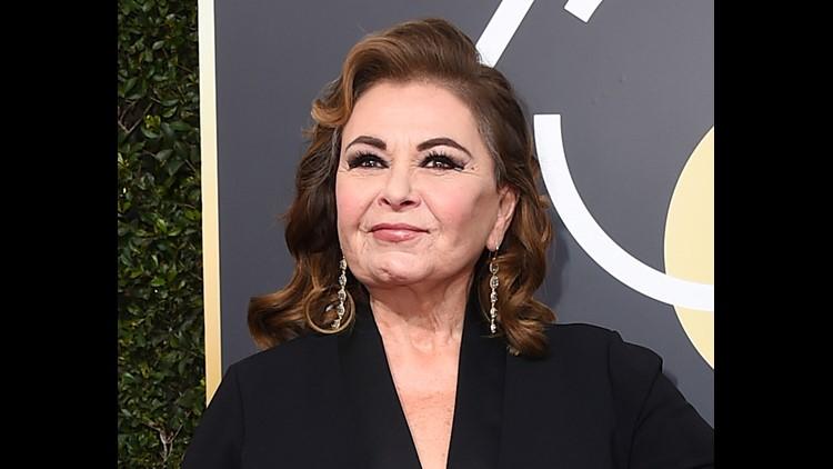 Roseanne Barr at the Golden Globe Awards in January.