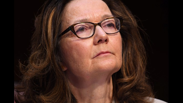 Gina Haspel testifies in front of the U.S. Senate Select Committee on Intelligence during her confirmation hearing March 13, 2018, in Washington.