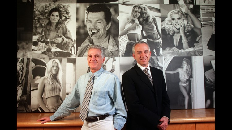 Maurice (l) and Paul (r) Marciano, CEO and COO of Guess Jeans, in their Los Angeles.