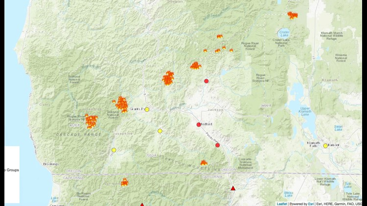 As Southern Oregon Wildfires Grow New Lightning Storms Expected