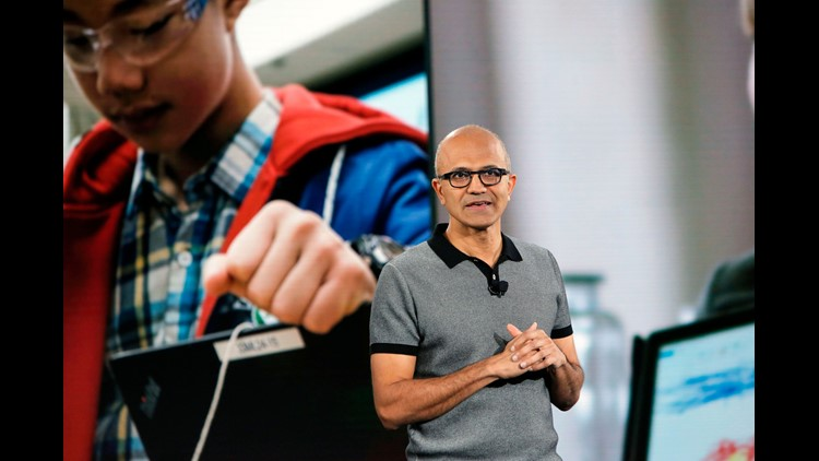 Microsoft CEO Satya Nadella discusses student empowerment at the Microsoft Education event in New York.