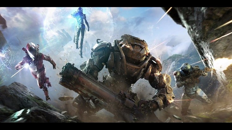 Take to the (not so) friendly skies in Anthem, a futuristic fighter that lets you climb into a flying Javelin exo-suit. Team up with friends to accomplish missions.