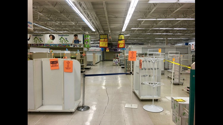 As inventory dwindles at Toys R Us stores, including the Jensen Beach, Fla. location, products are being moved to the front of the store.
