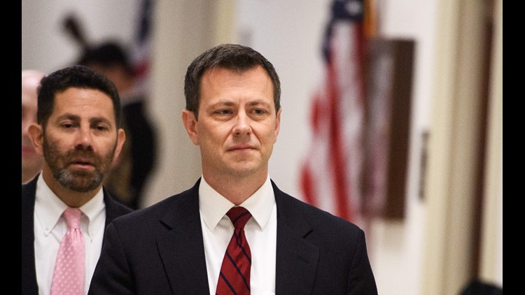 """FBI agent Peter P. Strzok arrives for a full committee meeting on """"Deposition of Peter P. Strzok """" at the House Judiciary Committee on Capitol Hill June 27, 2018, in Washington, D.C."""