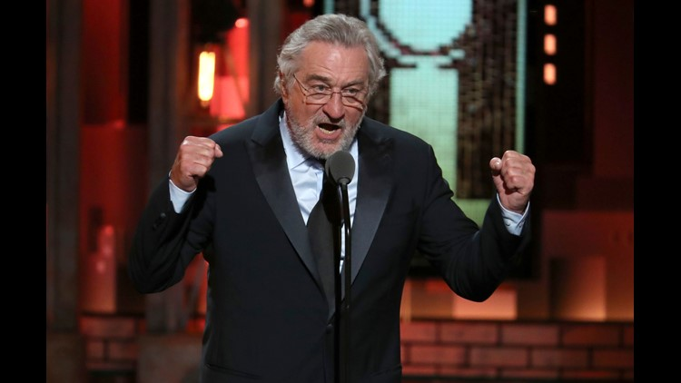 Robert De Niro introduces a performance by Bruce Springsteen at the 72nd annual Tony Awards at Radio City Music Hall on Sunday, in New York.