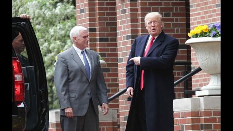 Gov. Mike Pence and Republican presidential candidate Donald Trump met at the governor's residence on April 20, 2016.