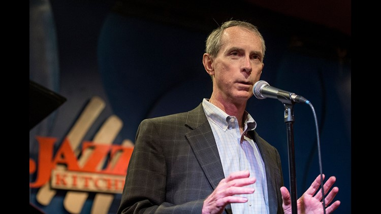 Dr. Mark Payne, a pediatric cardiologist with IU School of Medicine, has spent more than a decade researching a cure for Friedreich's ataxia, seen here speaking at the Jazz Kitchen in Indianapolis, Sunday, June 10, 2018. Payne says a drug treatment he dev