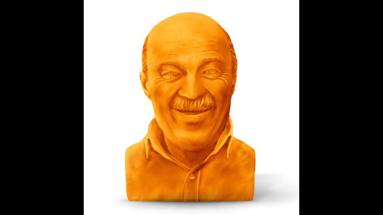 Kraft is auctioning off the chance to get a custom-made cheese sculpture of your dad for Father's Day.