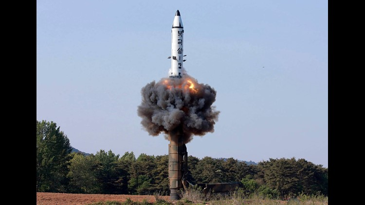 "A North Korean ""Pukguksong-2"" missile."