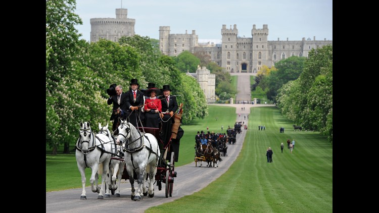 The Long Walk at Windsor Castle, in May 2015.