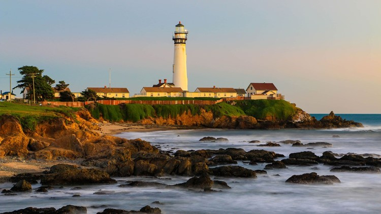 Pigeon Point Lighthouse: At 115 feet tall, Pigeon Point Lighthouse, now a part of Pigeon Point Light Station State Historic Park in California, is one of the tallest lighthouses in the United States. Although the tower has been closed since 2001, its 2,00