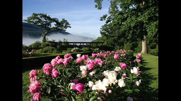 The gardens at Hildene, the Lincoln Family Home. Hildene was home to Robert Lincoln, the son of President Abraham Lincoln.
