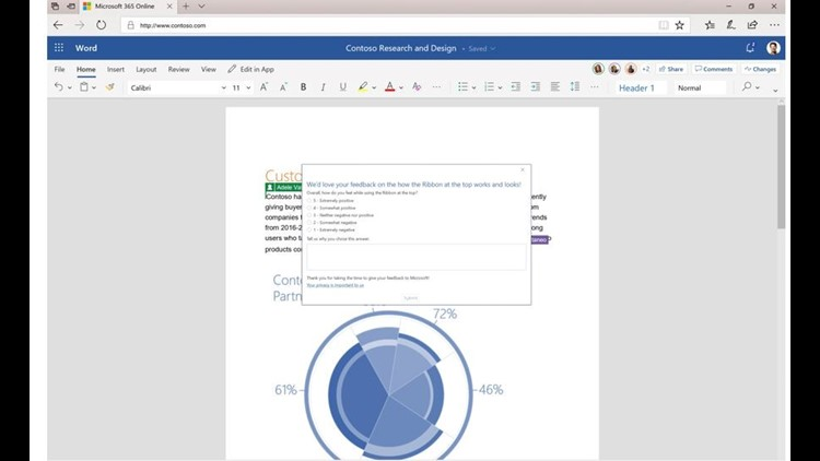 Microsoft is seeking feedback about Office changes.