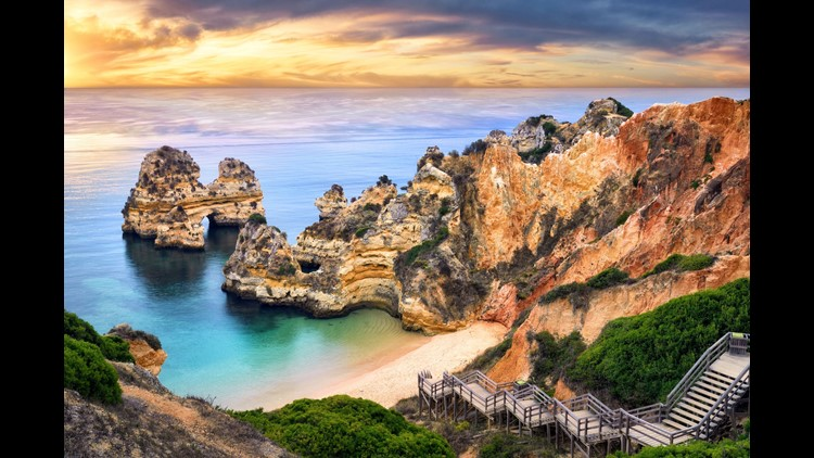 Lagos, Portugal: Take a very Euro-holiday in Portugal's Algarve region for a fraction of what you'd expect to pay. Enjoy seaside cliffs, beaches and a historic old town.