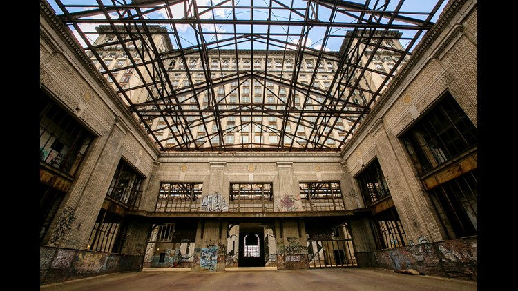 The interior of the Michigan Central Station in the Corktown neighborhood of Detroit on Wednesday, June 13, 2018. The long-vacant building, recently purchased by the Ford Motor Company, will be renovated to make it the hub of a campus for advanced automot