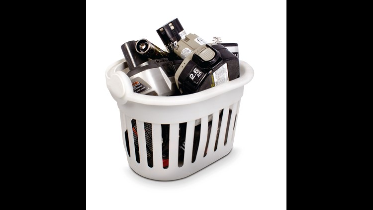 A basket of lithium-ion batteries.