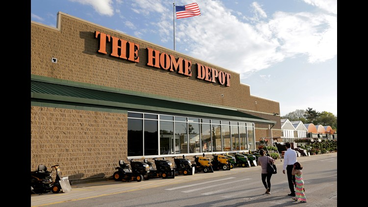 A storefront for The Home Depot in Bellington, Mass.