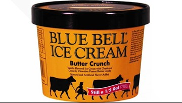 Blue Bell recalling select half gallons of Butter Crunch ice cream