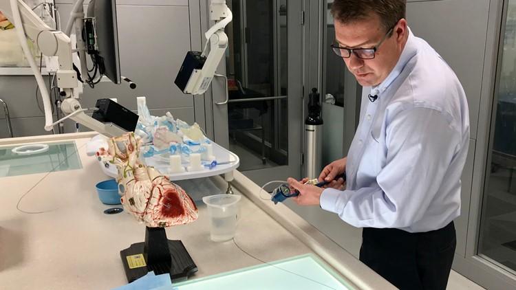 Joe Garner at work at Boston Scientific's Maple Grove, MN campus