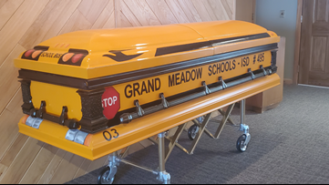 Longtime school bus driver will be laid to rest in school bus casket