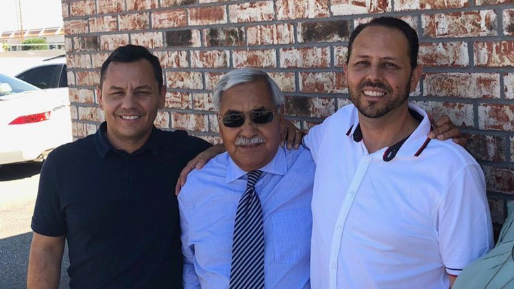 Pictured left to right: Paul Cabrera, Alfredo Cabrera, Israel Cabrera