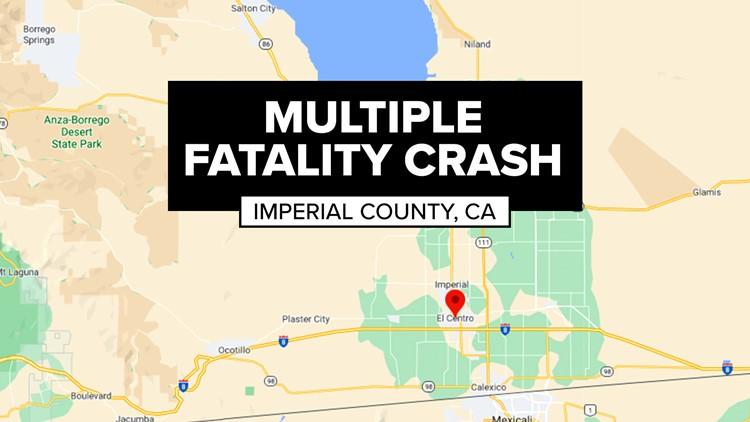 Al menos 15 personas muertas en un choque en El Centro California