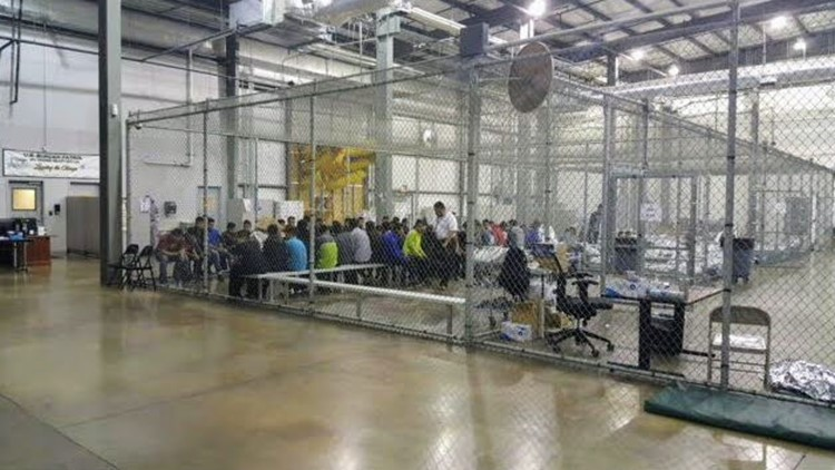 Inside a border patrol detention facility in McAllen, Texas, on Sunday, June 17, 2018. (Photo: US Customs and Border Protection)