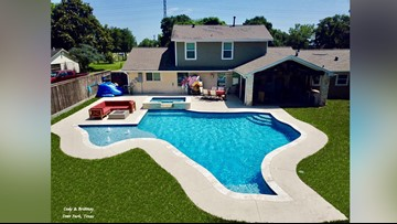 When you're a proud Texan, you make a Texas-shaped pool