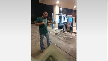 Couple protects $250,000 in cash after witnessing ATM smash-and-grab