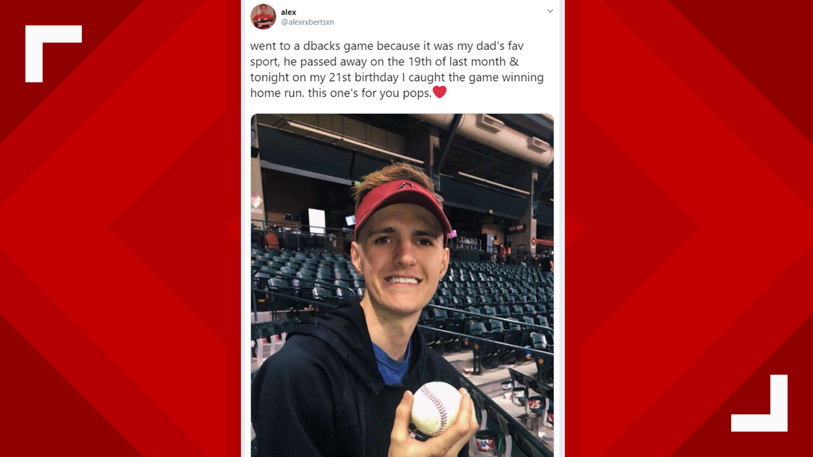 MLB fan who recently lost dad catches walk-off home run ball on 21st birthday