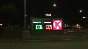 Glitch in the gas tank? Drivers shocked to see 2 cent gas at Phoenix gas station