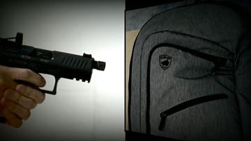 Testing 'bulletproof' backpacks against 9mm and .45 ACP guns