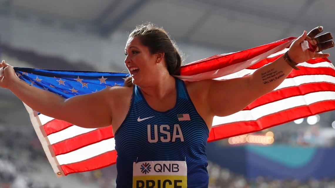 St. Louis native becomes first U.S. woman to win gold in hammer throw at World Championships