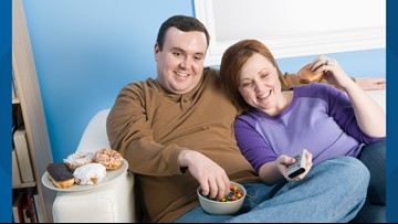 Survey finds average person gains 36 pounds in long-term relationship