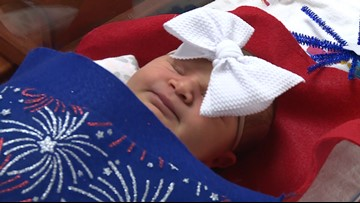 Red, white and cute! Babies dressed up for Fourth of July