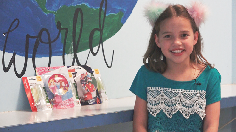 7-year-old girl collects nightlights for foster kids to feel more at home