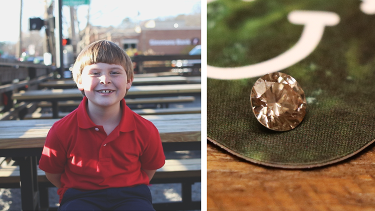 7-year-old boy returns lost engagement ring diamond found in gravel