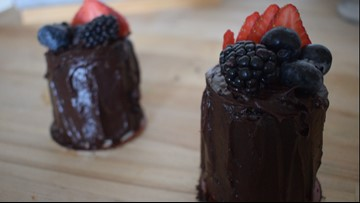 Valentine's Day recipe: Impress someone special with these double chocolate mini cakes