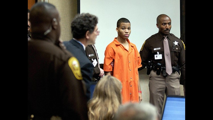 <p>Lee Boyd Malvo, who as a teenager took part in one of the most terrifying serial sniper murder cases in U.S. history, will be going back to court after a federal judge Friday threw out two life sentences on constitutionality grounds.</p>