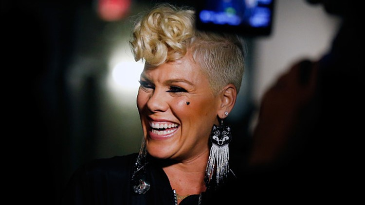 Pink attends the 2017 iHeartRadio Music Festival at T-Mobile Arena on September 22, 2017 in Las Vegas, Nevada.