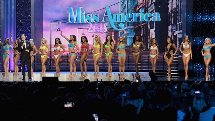 Contestants are seen on stage during the 2018 Miss America Competition Show at Boardwalk Hall Arena on September 10, 2017 in Atlantic City, New Jersey. (Photo by Donald Kravitz/Getty Images for Dick Clark Productions)