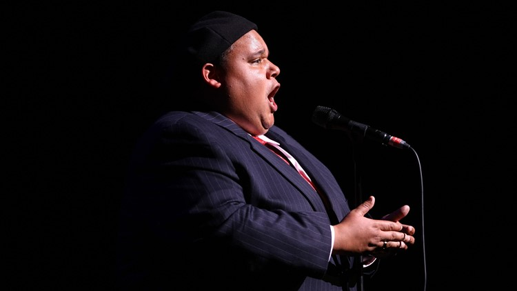 """Recording artist and """"Americas Got Talent"""" winner Neal E. Boyd performs at The Beacon Theatre on July 9, 2009 in New York City."""