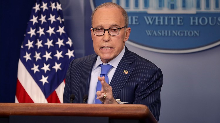 White House National Economic Council Director Larry Kudlow holds a news briefing about the upcoming G7 meetings in the Brady Press Briefing Room at the White House June 6, 2018 in Washington, DC. (Photo by Chip Somodevilla/Getty Images)