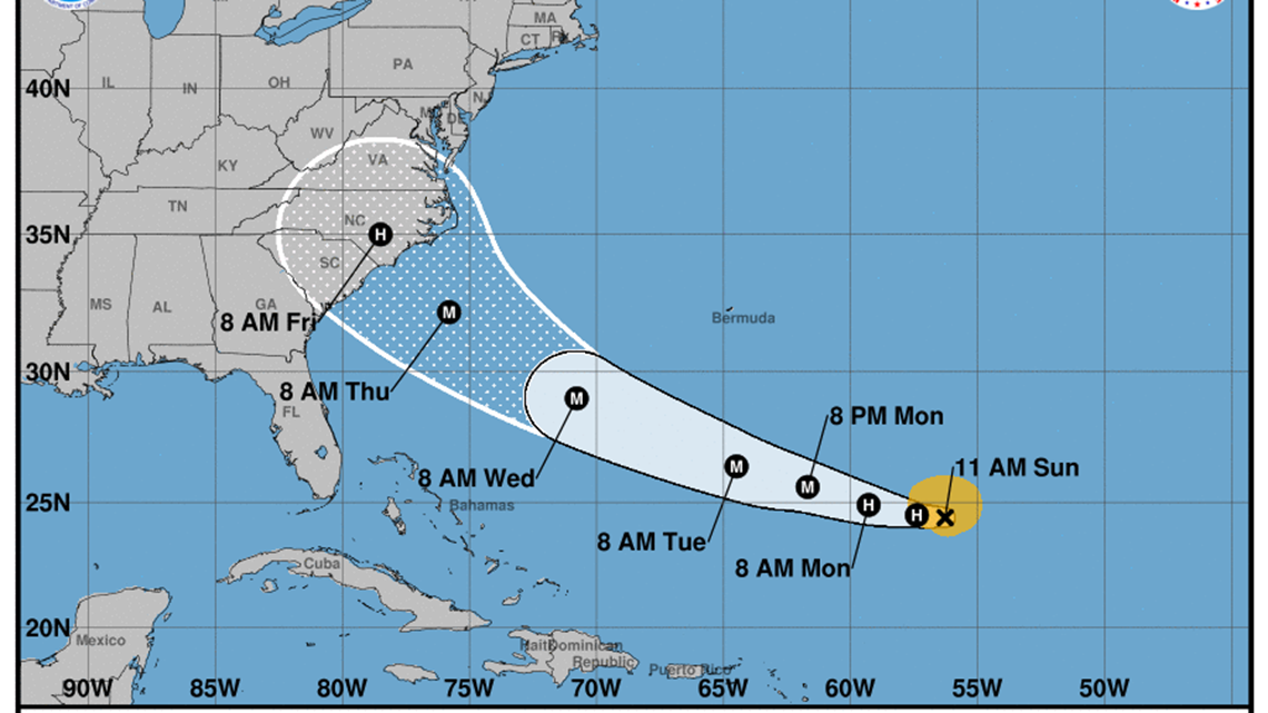 Florence strengthens into a hurricane takes aim at the Southeast