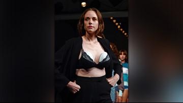 Model rocks wearable breast pump on runway during London's fashion week
