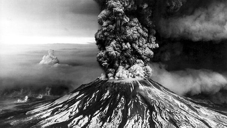 An aerial view of the eruption of Mount St. Helens, Skamania County, Washington on May 18, 1980. (Photo: Earth Science World Image Bank)