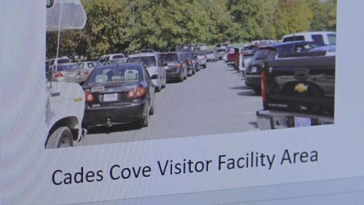 Cades COve Visitor Facility Area Traffic Jam Photograph