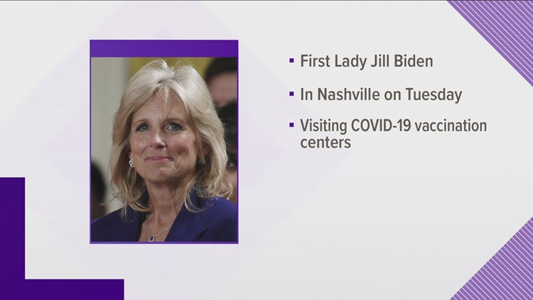 First Lady to visit Nashville vaccine sites