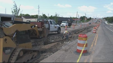 Historic Knoxville trolley tracks uncovered on Magnolia Avenue