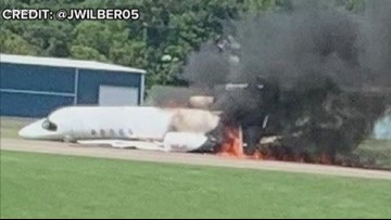 Environmental crews clean up fuel from Dale Earnhardt, Jr. plane crash